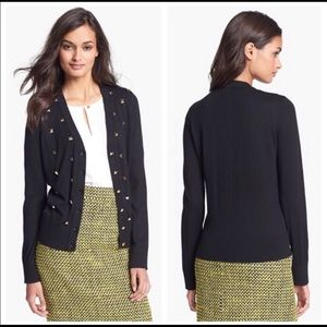 Kate Spade Kati Studded Black Cardigan Sweater